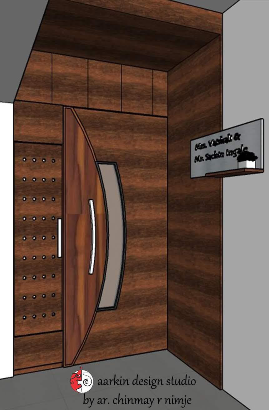 main door design with door hande view