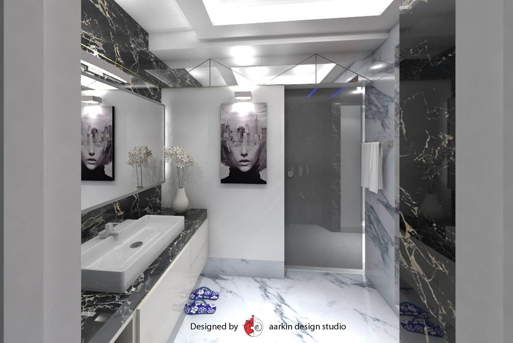 black and white bathroom marble luxury bathroom