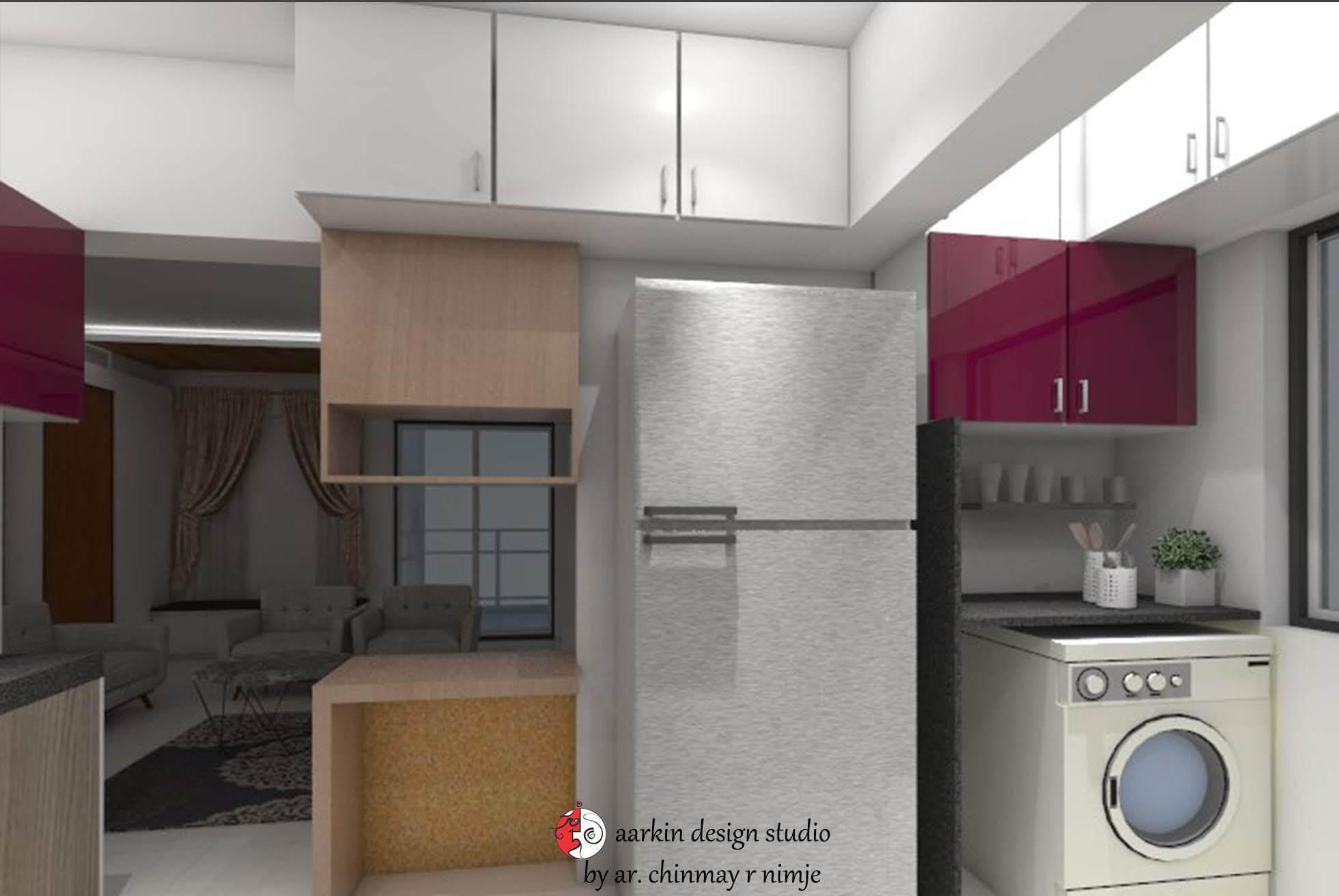 kitchen utility area view