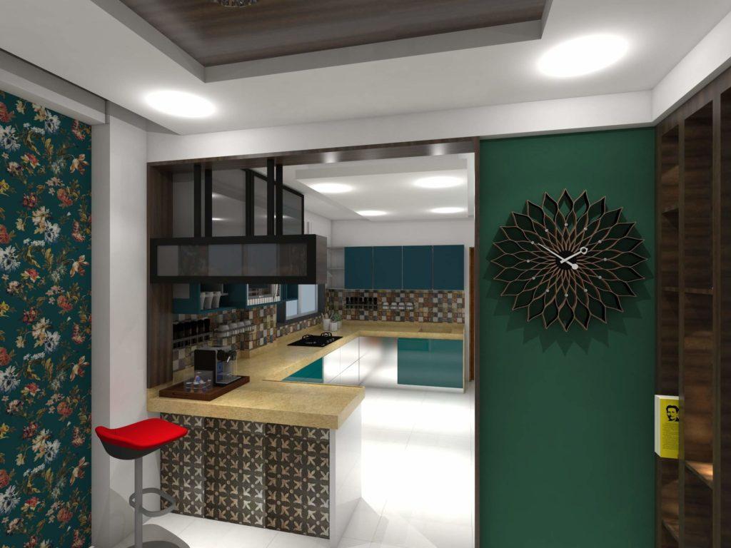 kitchen view with platform