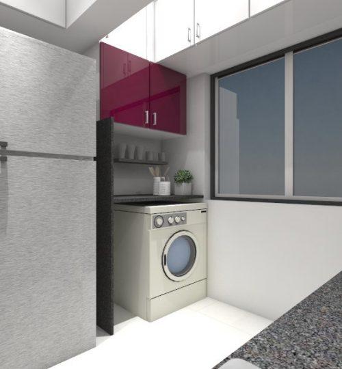 kitchen -washing machine area